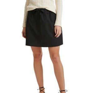 Vineyard Vines Jet Black Tie Waist Skirt